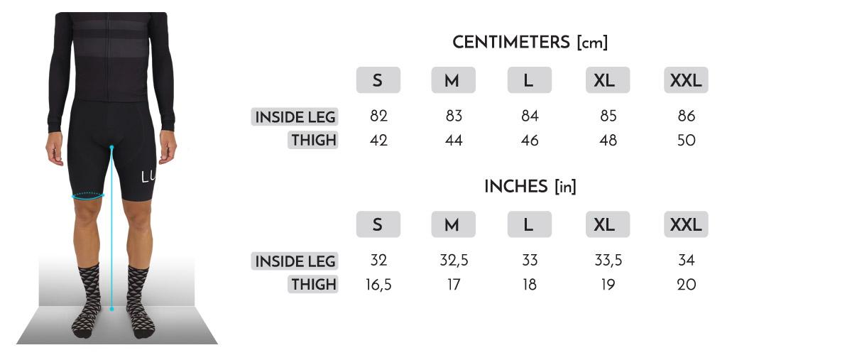 rozmiary meskie spodenki luxa