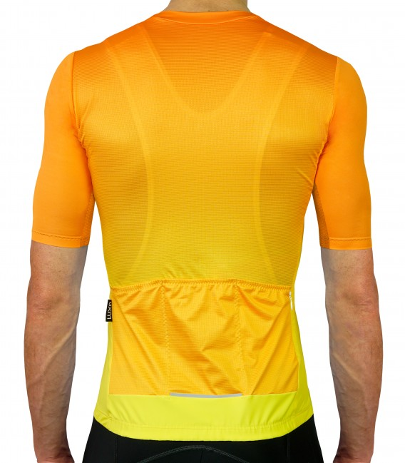 Sunrise orange cycling jersey - front