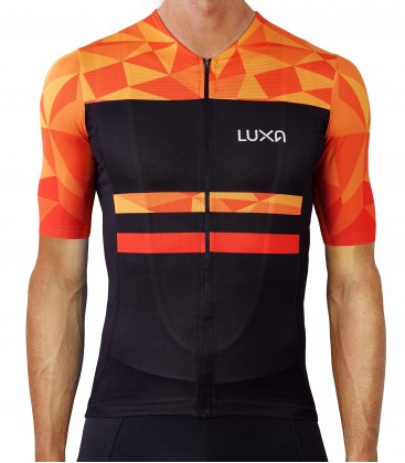Warm Orange Cycling Jersey
