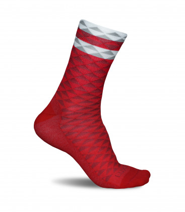Asymmetric Red Cycling Socks