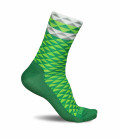Asymmetric Green Cycling Socks