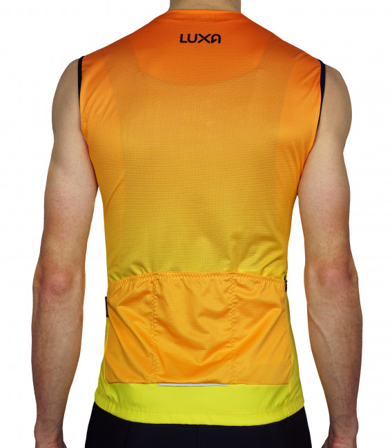 Sunrise Sleeveless Cycling Jersey in orange color