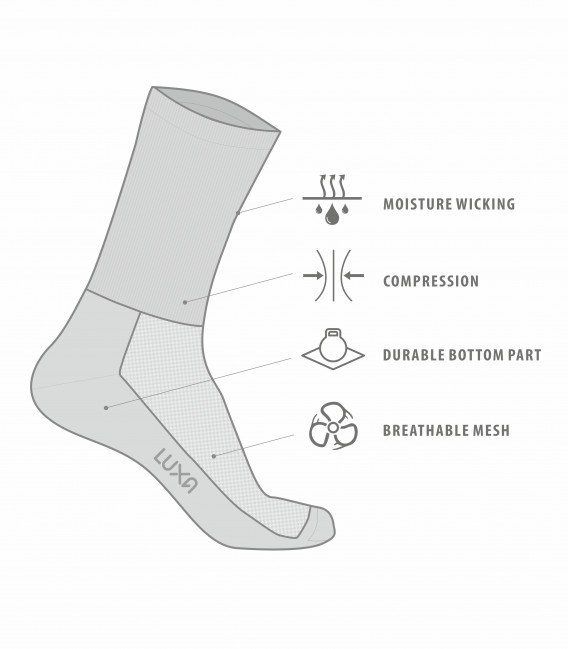 Tenerife luxa cycling socks with wide color range