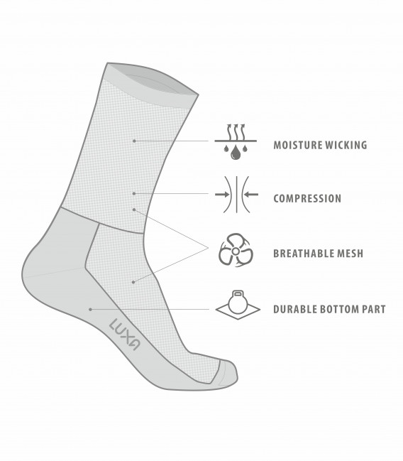 Negro Cycling Socks in Black