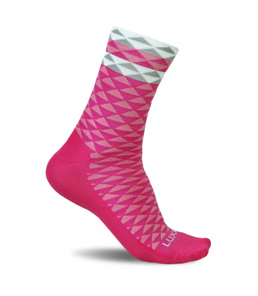 Asymmetric Pink Cycling Socks
