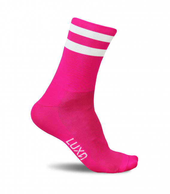 Fluo Pink Cycling Socks