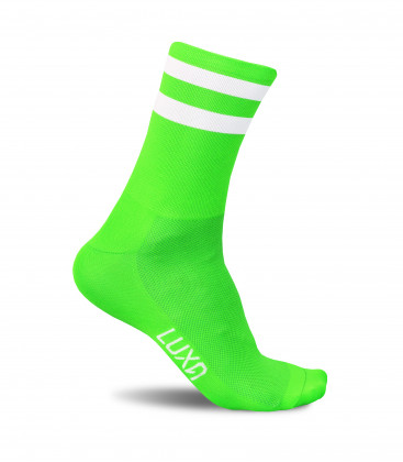Fluo Green Cycling Socks
