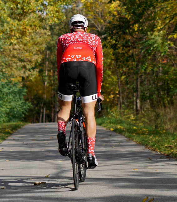 Wild Red cycling socks