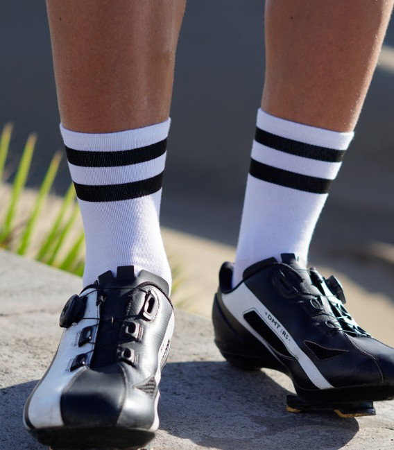 White Night Cycling Socks. Simply design. Shop online