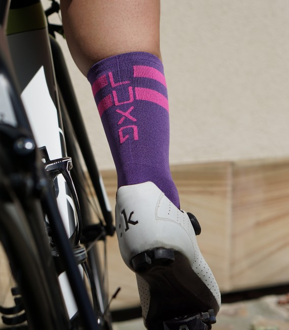 Purple Oskarki cycling socks