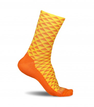 Warm Orange Cycling Socks