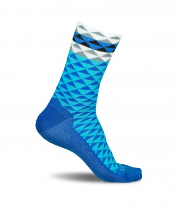 Asymmetric Blue Socks for Cyclists