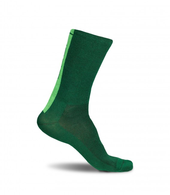Forest Camo green bottle cycling socks