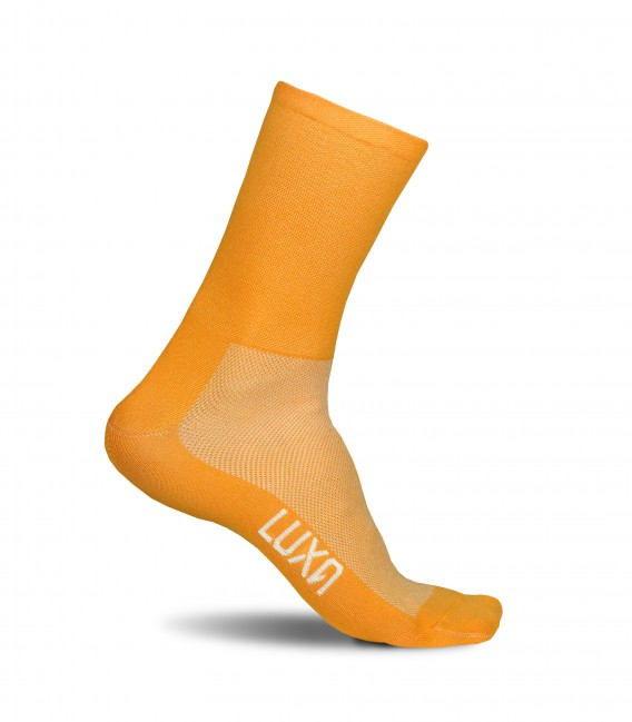 Sunrise socks in orange color. Breathable materials