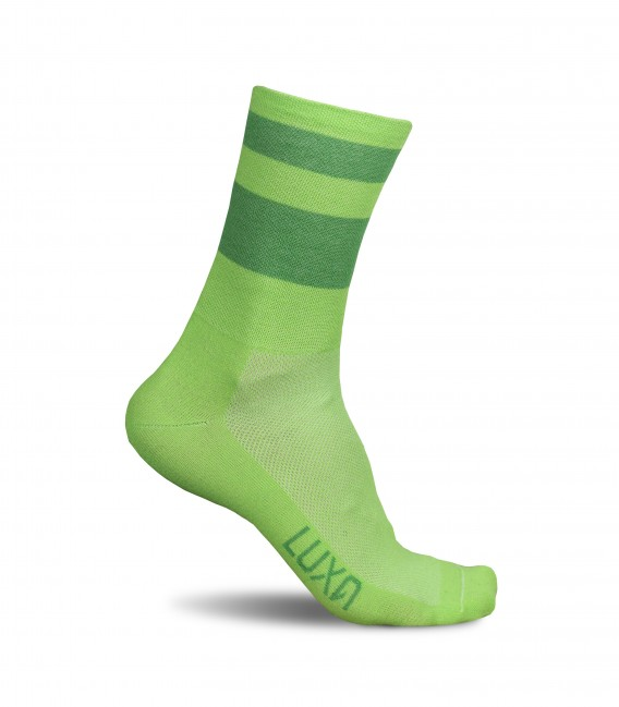 Green Night Luxa Cycling Socks