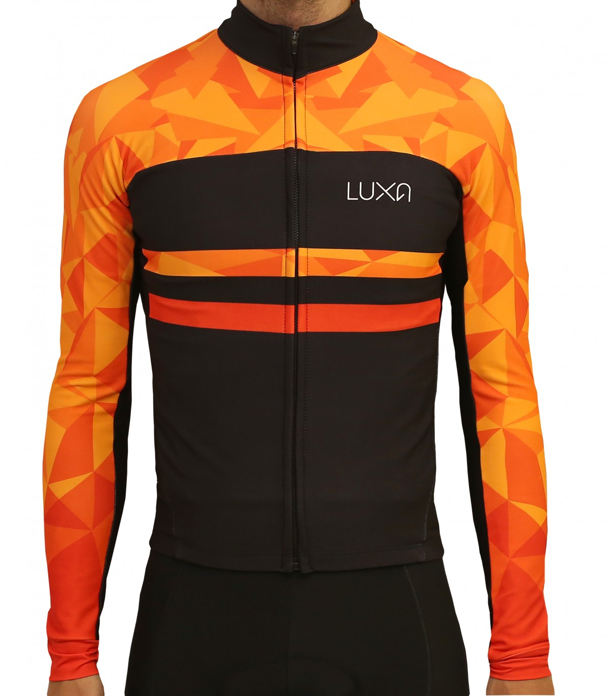 Warm Orange Long Sleeve Cycling Jersey 696972570