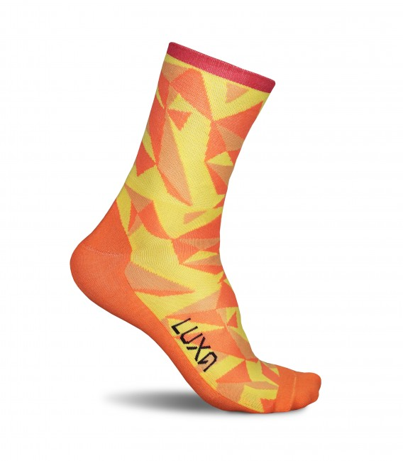 Warm Orange I Cycling Socks. Manufactured in Europe